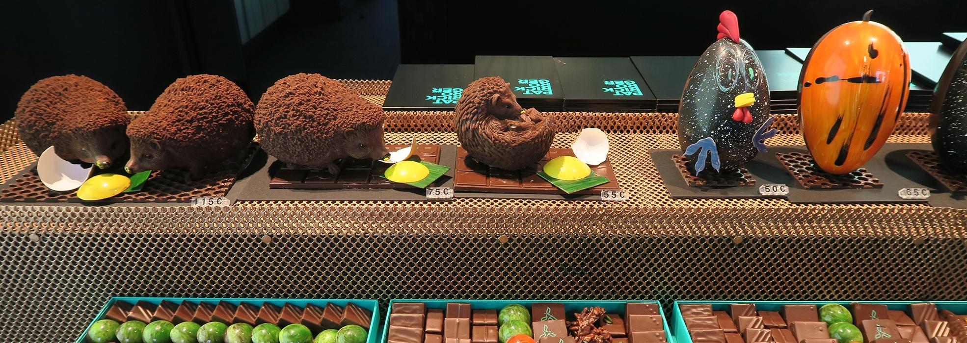 Huevos de chocolate de Pasquas en París