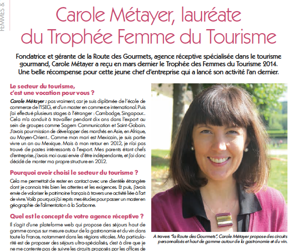 Article Cahiers du Toursisme n°16 Avril 2014