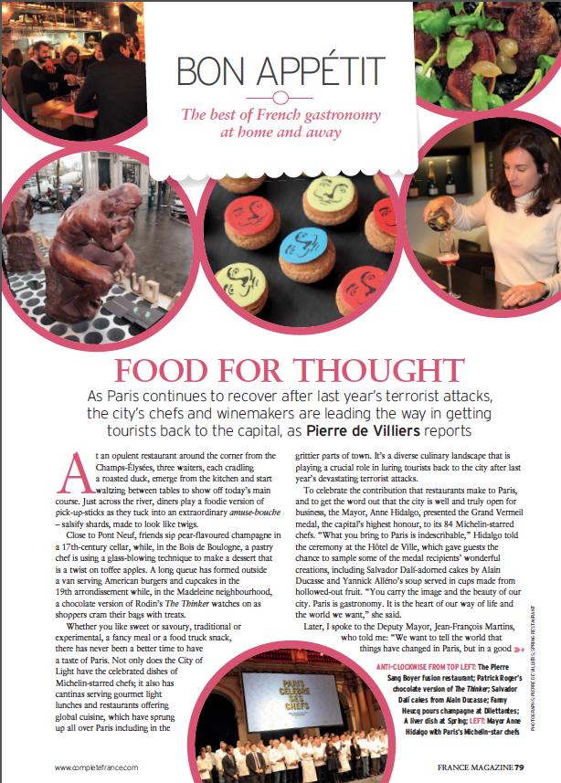 France Magazine February 2016 Bon appetit